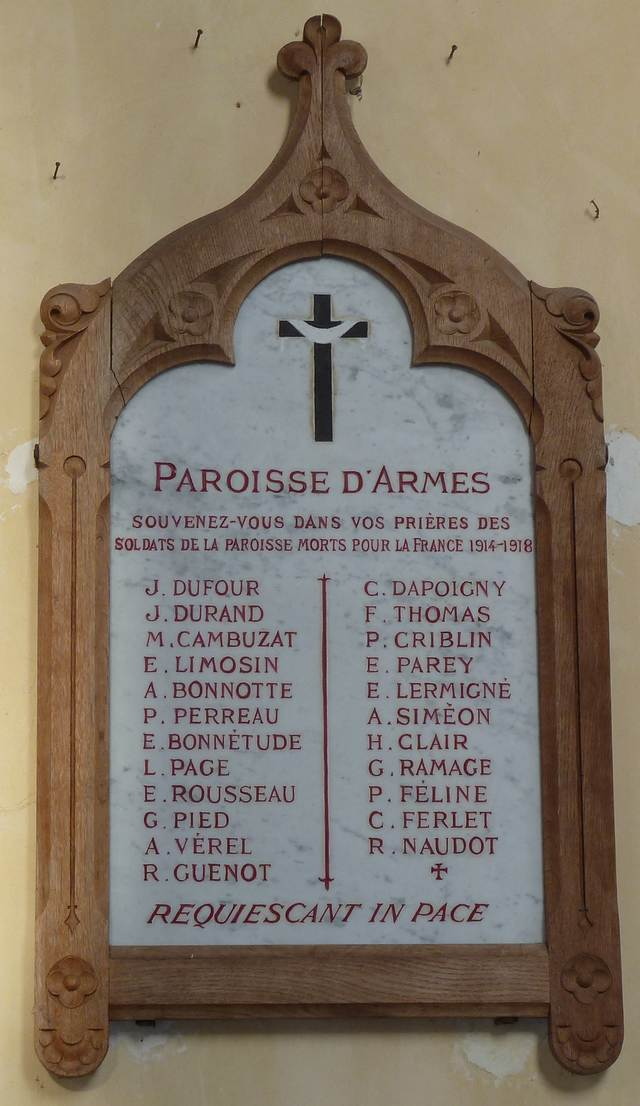 plaque eglise