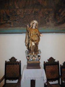 La statue restaurée dans la chapelle Saint-Bernardin